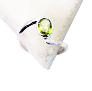 Riyo Peridot Silver Jewelry In India Purity Ring Jewelry Sz 8 Srper8-58037