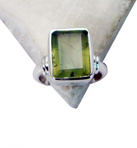 Riyo Prehnite Silver Jewelry Shop Unique Ring Sz 7 Srpre7-60005