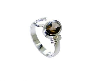 Riyo Smoky Quartz So Silver Jewellery Designer Silver Ring Sz 8 Srsqu8-76032