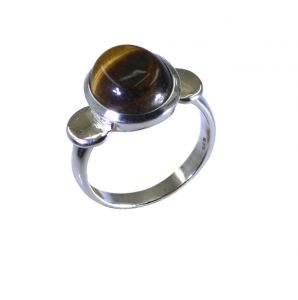 Riyo Brown Tiger Eye 925 Solid Sterling Silver Chic Ring Srtey70-80016