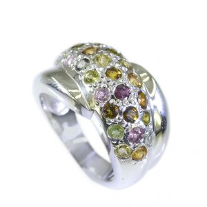 Riyo Tourmaline Wholesale Silver Jewelry Silver Ring Set Sz 6 Srtou6-84025