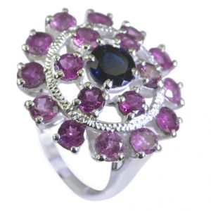 Riyo Tourmaline Cool Silver Jewellery Guard Ring Sz 7 Srtou7-84106