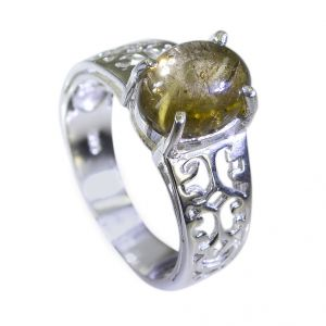 Riyo Tourmaline Daisy Silver Jewellery Sports Ring Sz 7 Srtou7-84113