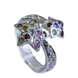 Riyo Tourmaline Essential Silver Jewellery Cocktail Ring Sz 7.5 Srtou7.5-84124