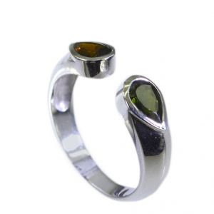 Riyo Tourmaline Exotic Silver Jewelry Antique Silver Ring Sz 7.5 Srtou7.5-84130
