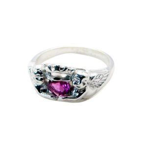 Riyo Tourmaline Fake Silver Jewelry Brushed Silver Ring Sz 7.5 Srtou7.5-84134