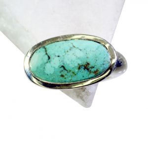 Riyo Turquoise Funky Silver Jewellery Uk Engagement Ring Silver Sz 6 Srtur6-82009