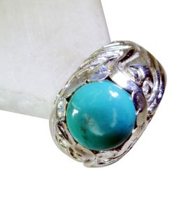 Riyo Turquoise Girls Silver Jewelry Oxidized Silver Ring Sz 7 Srtur7-82023