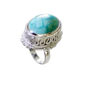 Riyo Turquoise Handcrafted Silver Engagement Ring Settings Sz 7 Srtur7-82032