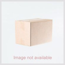 IndianArtVilla Chrome Finish Designer Aluminium Serving Tray With Golden Handle, Length 12.2""