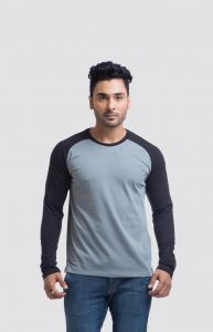 "Cult Fiction Cotton Grey Solid Men""s Round Neck T-shirt-(code-cfm03lgr378)"