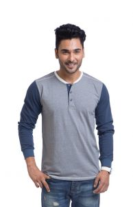 "Cult Fiction Cotton Grey Solid Men""s Round Neck T-shirt-(code-cfm04grm448)"