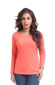 "Cult Fiction Cotton Pink Solid Women""s Round Neck T-shirt-(code-cfg30pc461)"