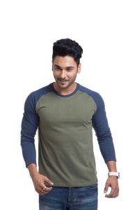 "Cult Fiction Cotton Green Solid Men""s Round Neck T-shirt-(code-cfm03ol378)"
