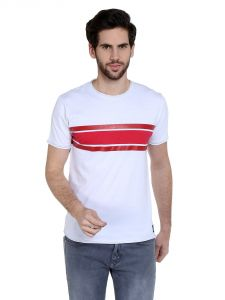 Cult Fiction Comfort Fit Round Neck White Color Half Sleeves T-shirt For Men-cfm01wh1030