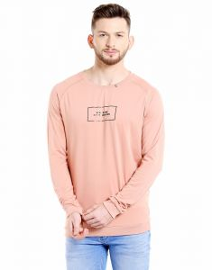 Cult Fiction Round Neck Light Pink Full Sleeve Printed Cotton T-shirt For Men(code -cfm03lpn2134)