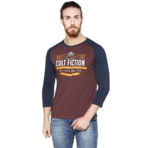 Cult Fiction Neo Wine Color Round Neck Full Sleeve Men