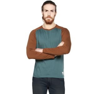 Cult Fiction Vintage Blue Color Round Neck Full Sleeve Men