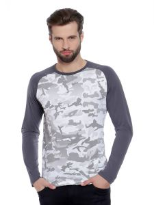 Cult Fiction White Color Round Neck Full Sleeve Men