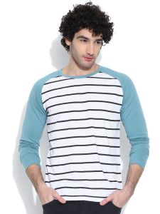 Cult Fiction Comfort Fit White Melange Color Round Neck Cotton T-shirt For Men-cfm03whm847