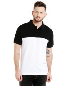 Cult Fiction Polo Neck White Solid 100% Cotton Pique Fabric T-shirt For Men(code-cfm07wh2090)