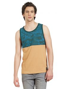 Cult Fiction Blue-awker Cotton Fabric Sleeveless T-shirt For Men