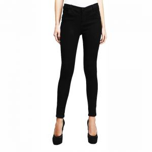 Masterly Weft Slim Fit Black Jeans For Women D-girl-1b
