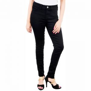 Masterly Weft Trendy Black Jeans For Women D-girl-1e