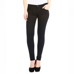 Masterly Weft Slim Fit Black Jeans For Women D-girl-1i