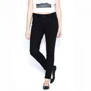 Masterly Weft Slim Fit Black Jeans For Women D-girl-1j