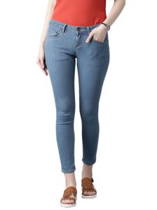 Masterly Weft Slim Fit Blue Jeans For Women D-girl-3