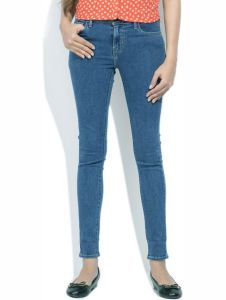 Masterly Weft Slim Fit Blue Jeans For Women D-girl-3a