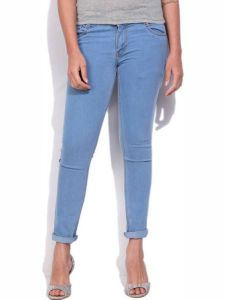 Masterly Weft Slim Fit Blue Jeans For Women D-girl-3b