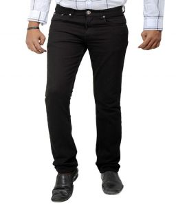 "Masterly Weft Black Cotton Blend Regular Men""s Jeans (product Code - D-jen--1a)"