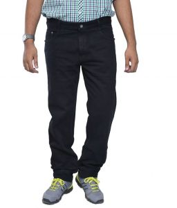 "Masterly Weft Black Cotton Blend Regular Men""s Jeans (product Code - D-jen--1b)"