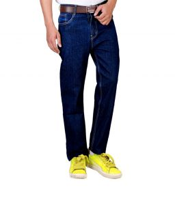 "Masterly Weft Blue Cotton Blend Regular Men""s Jeans (product Code - D-jen--2g)"