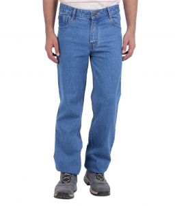 "Masterly Weft Blue Cotton Blend Regular Men""s Jeans (product Code - D-jen--3b)"