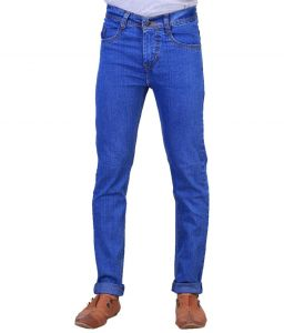 "Masterly Weft Blue Cotton Blend Regular Men""s Jeans (product Code - D-jen--3d)"