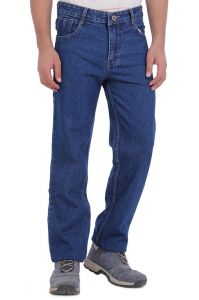 "Masterly Weft Blue Cotton Blend Regular Men""s Jeans (product Code - D-jen--4)"