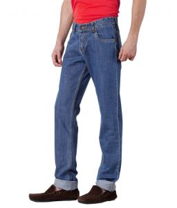 "Masterly Weft Blue Cotton Blend Regular Men""s Jeans (product Code - D-jen--4b)"