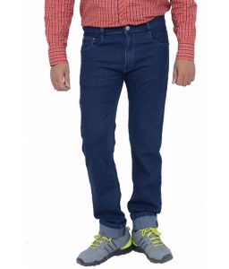 Jeans (Men's) - Masterly Weft Trendy Dark Blue Jeans_d-jen--4d