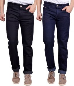 Masterly Weft Awesome Pack Of 2 Mens Cotton Jeans - (code - D-jen-1-2)