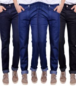Masterly Weft Trendy Multicolor Pack Of 4 Mens Jeans (product Code - D-jen-1-2-3-3-2)
