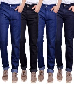 Men's Wear - Masterly Weft Trendy  Multicolor  Pack Of 4 Mens Jeans (Product Code - D-JEN-1-2-3-3-4)