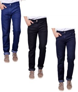 Masterly Weft Trendy Pack Of 3 Mens Cotton Jeans - (code -d-jen-1-2-3-a-p)