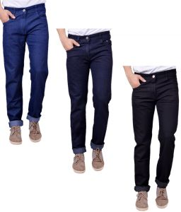 Masterly Weft Trendy Pack Of 3 Mens Cotton Jeans - (code -d-jen-1-2-3-c-p)