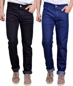 Masterly Weft Awesome Pack Of 2 Mens Cotton Jeans - (code - D-jen-1-3-a)
