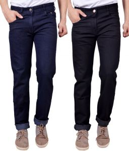 Masterly Weft Awesome Pack Of 2 Mens Cotton Jeans - (code - D-jen-2-1-a)