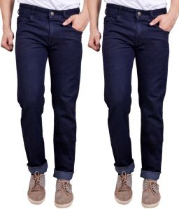 Masterly Weft Awesome Pack Of 2 Mens Cotton Jeans - (code - D-jen-2-2)