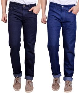 Masterly Weft Awesome Pack Of 2 Mens Cotton Jeans - (code - D-jen-2-3)